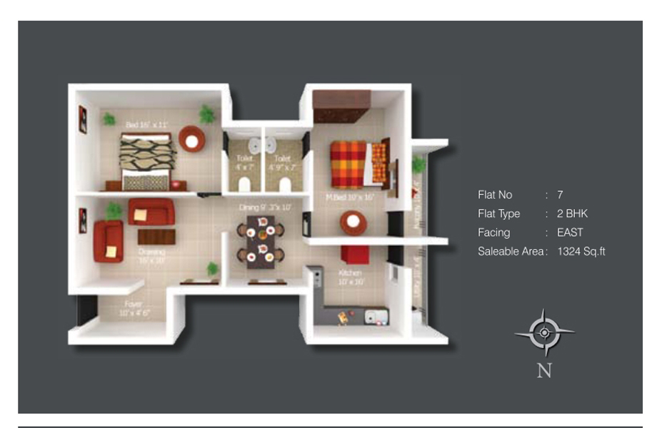 Kshiptha Floor Plan