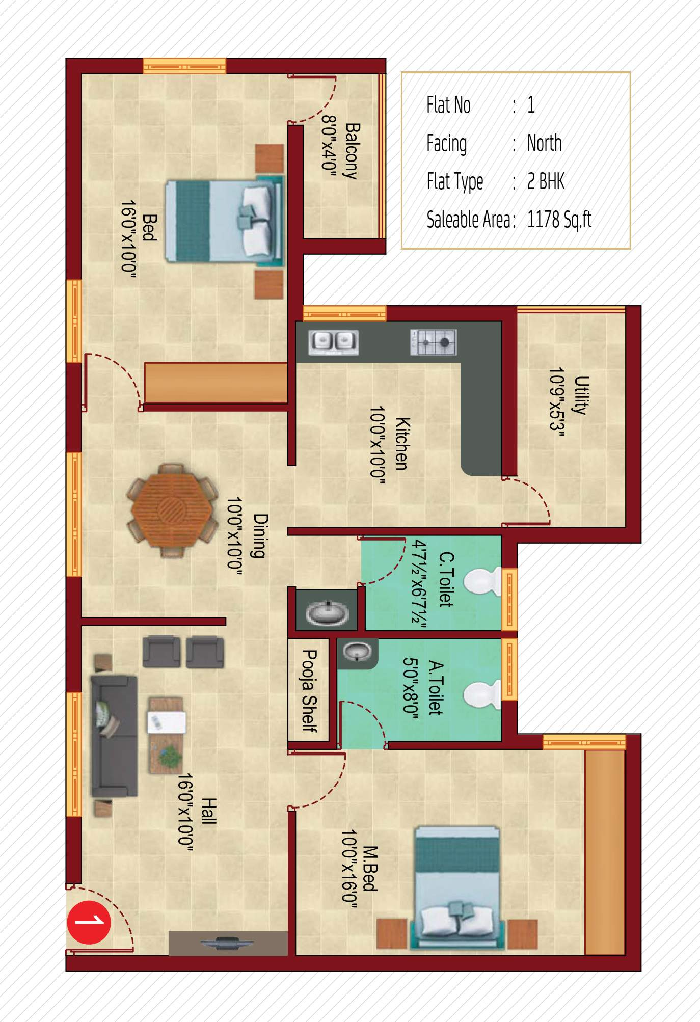 Sanshray Phase II Floor Plan