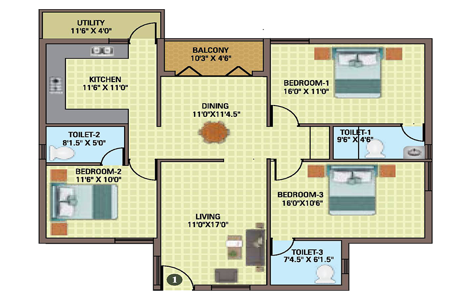 Utakarsh Floor Plan