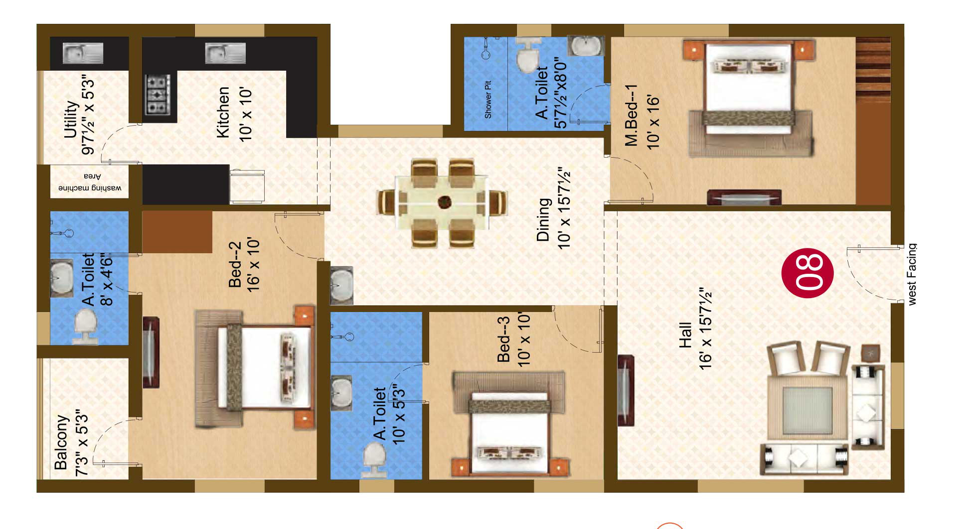 Darza Floor Plan
